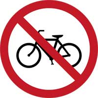 4. No entry for Bicycles