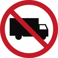 5. No entry for Trucks