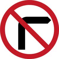 7. No Right Turn