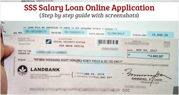 SSS Salary Loan Online Application 2018 - complete guide