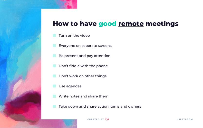 good remote meetings