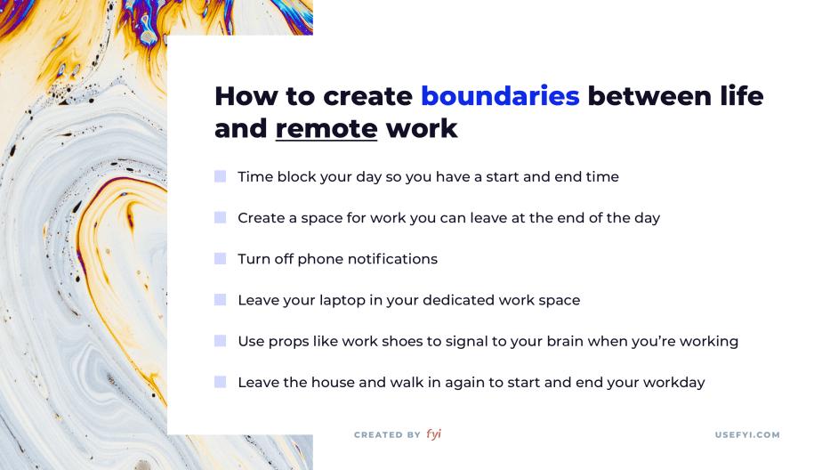remote work boundaries