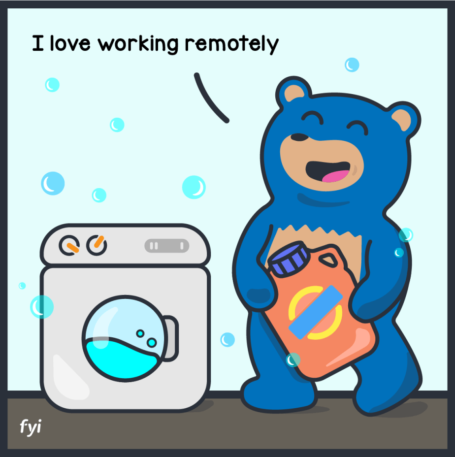 remote work laundry
