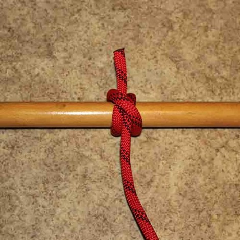 Clove hitch step by step how to tie instructions