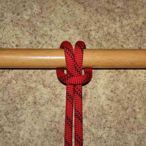 Cow hitch step by step how to tie instructions