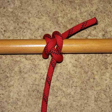 Ground line hitch step by step how to tie instructions