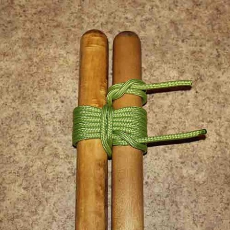 Shear lashing step by step how to tie instructions