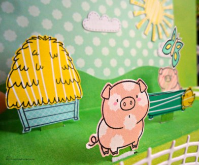 My Favorite Things MFT - The Whole Herd Popup stage card - happy retirement card open detail
