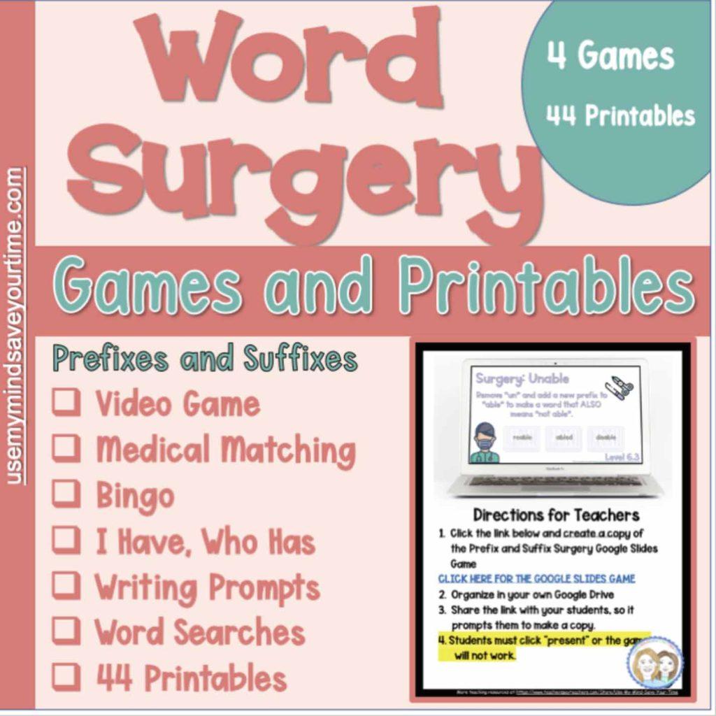 Prefix Suffix Worksheets To Build Vocabulary