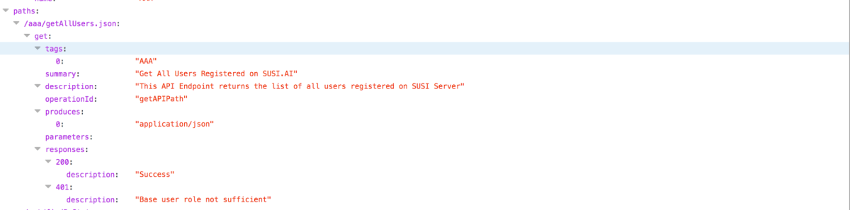 Integrating Swagger with SUSI Server | blog fossasia org