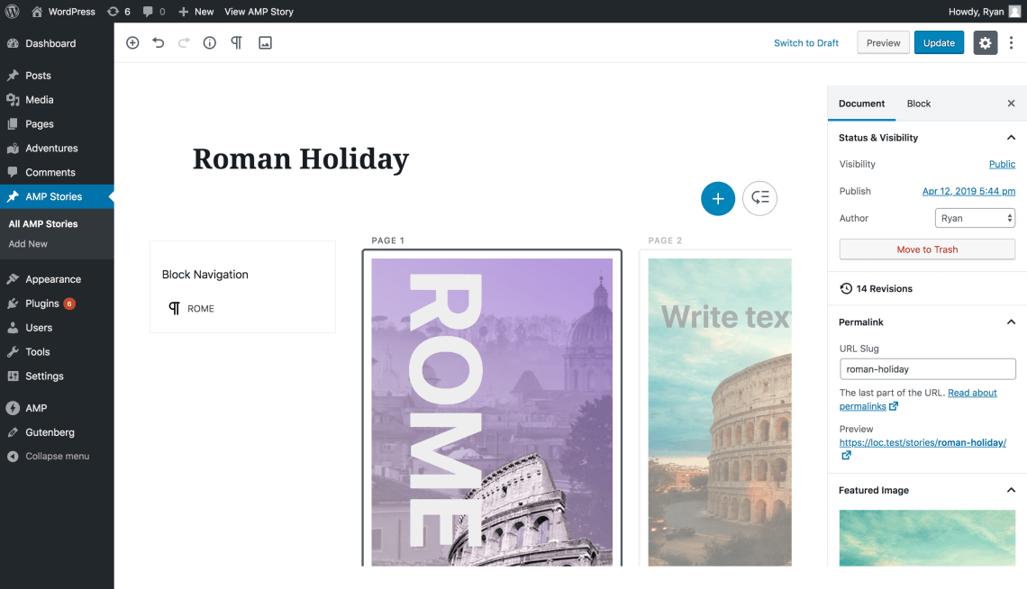 AMP Stories Editor for WordPress
