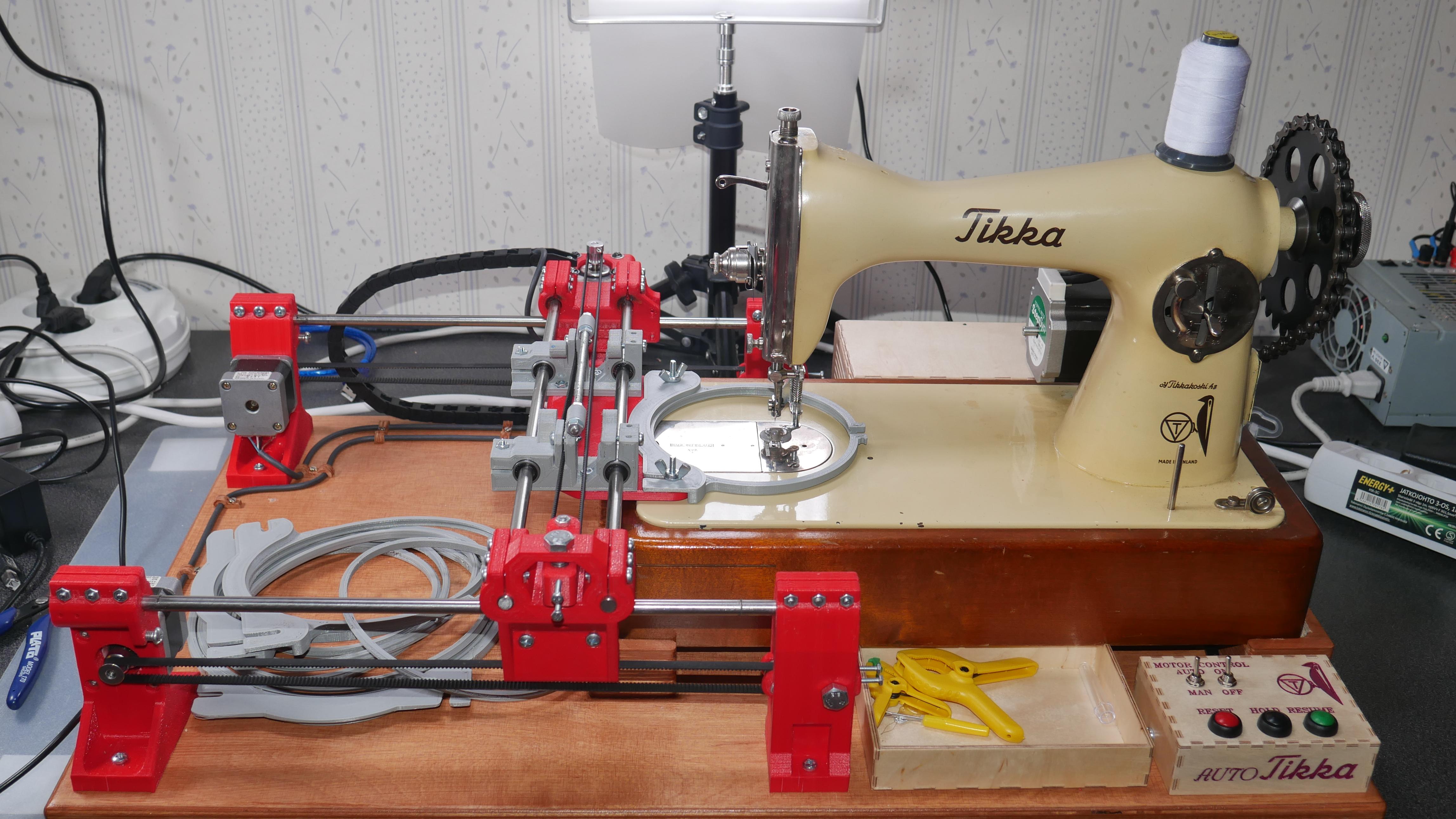 Self Made Embroidery Machine Running On G Code