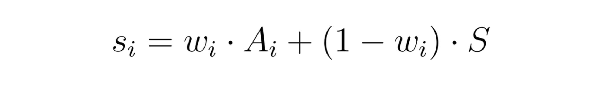 bayesian average formula for rating system