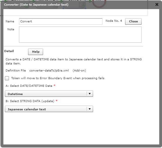 Converter (Date to Japanese calendar text) – Questetra Support