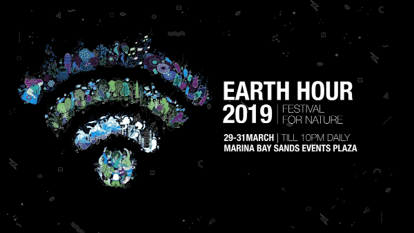 Earth Hour event in Singapore (Source: WWF Singapore Facebook)