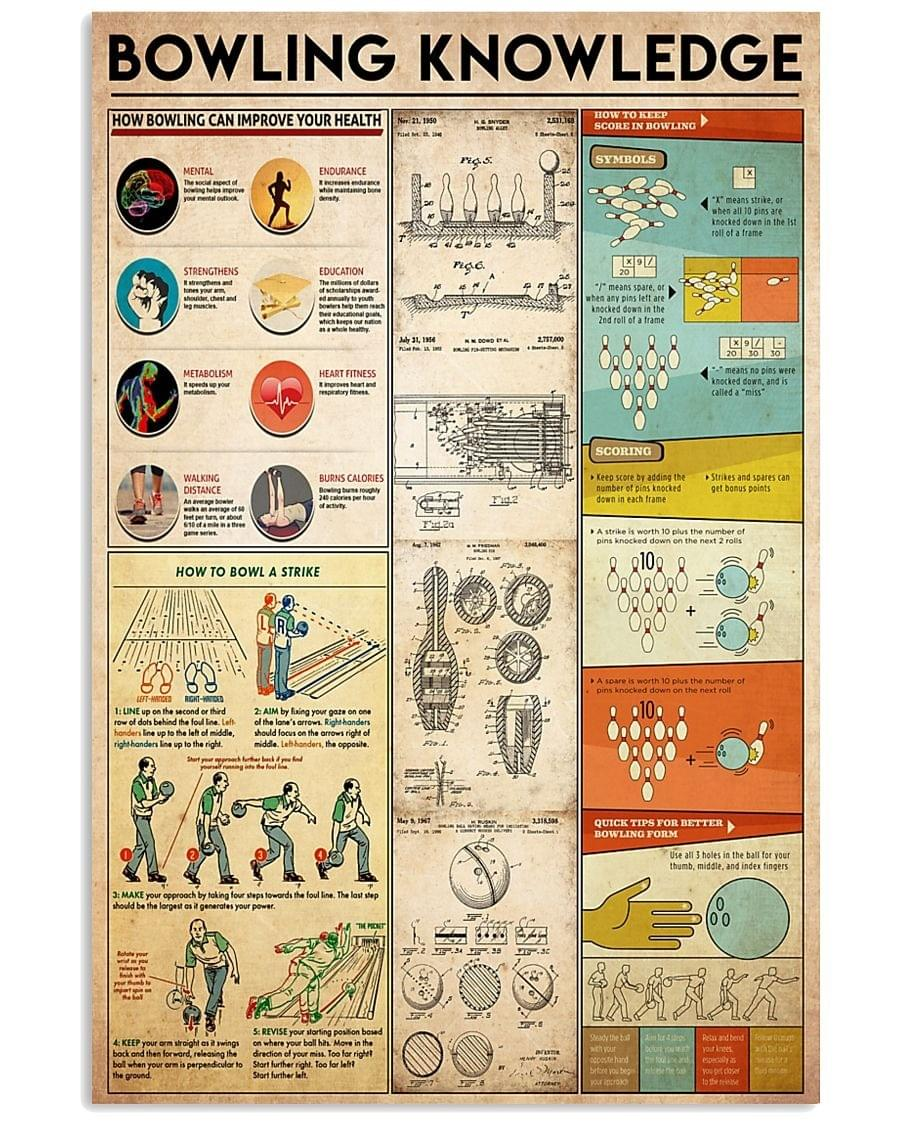 luxury bowling knowledge poster