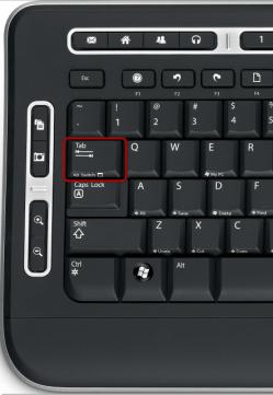 La touche Tab du clavier