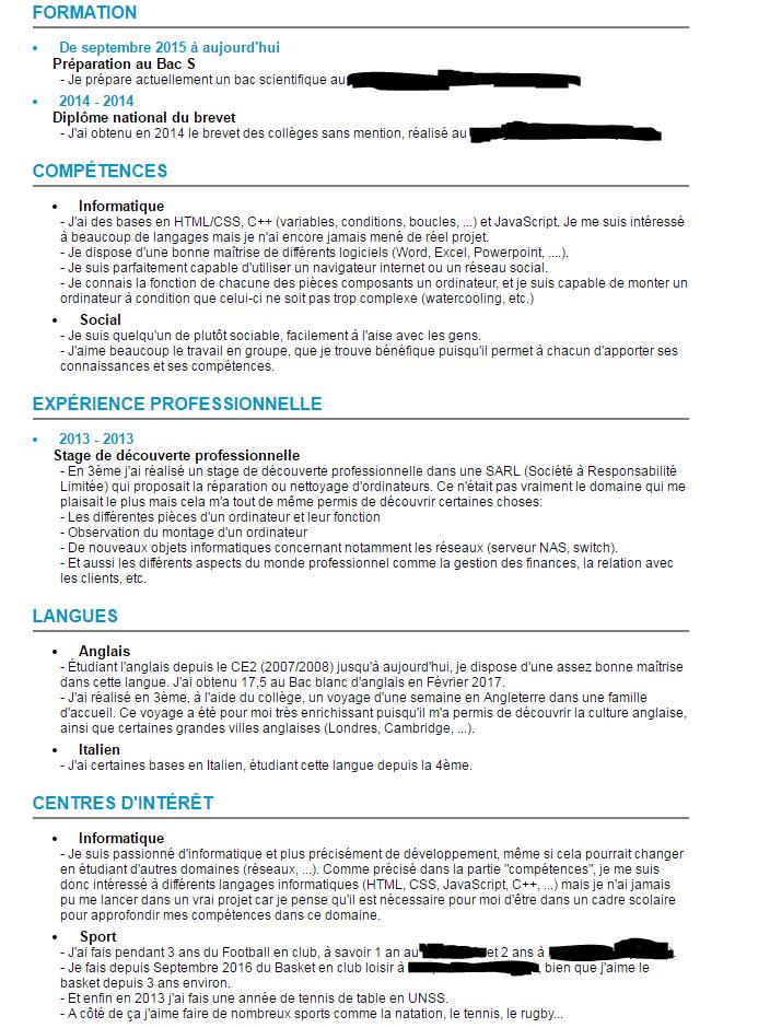 Resolu Help Cv Sur Apb Par Krelaw Openclassrooms