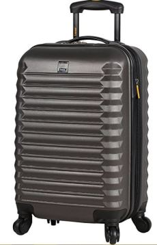 Lucas Luggage ABS Carry On Hard Case 20 inch Rolling Suitcase With Spinner Wheels