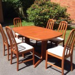 Vintage Retro Mid Century Danish Extending Dining Table And 8 Chairs Rasmus Village