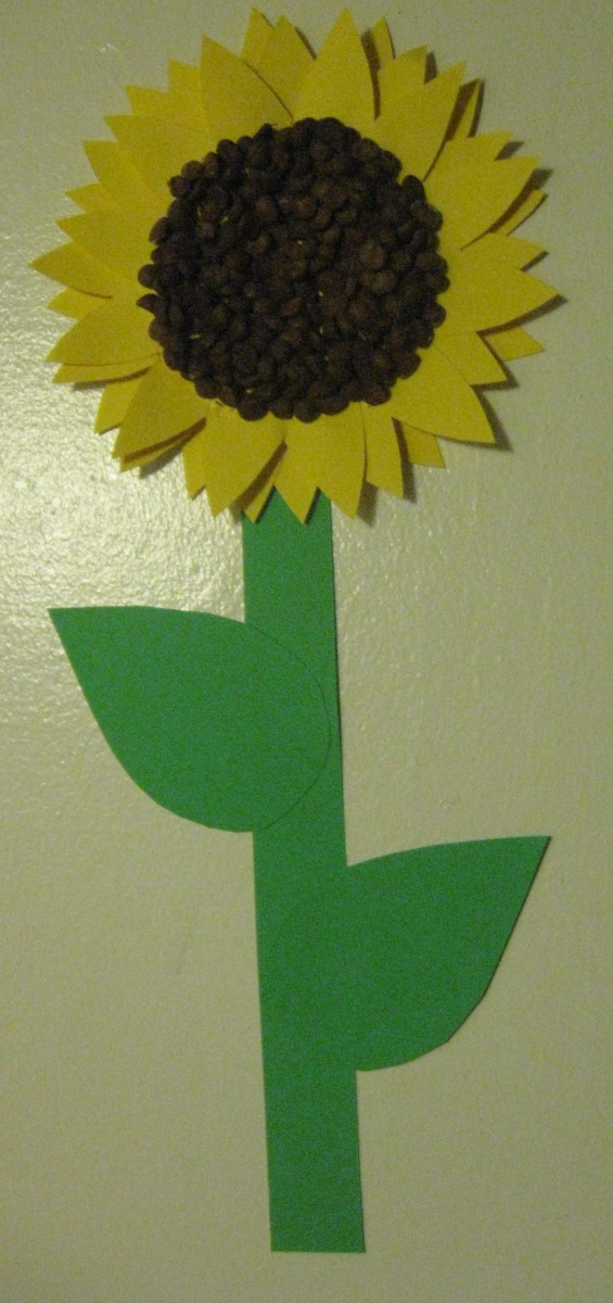Preschool Craft Sunflowers