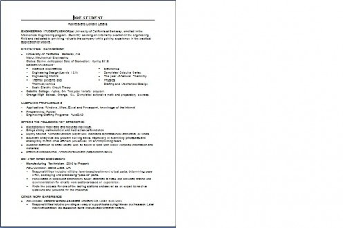 cvs and resumes how to write a to gain an internship