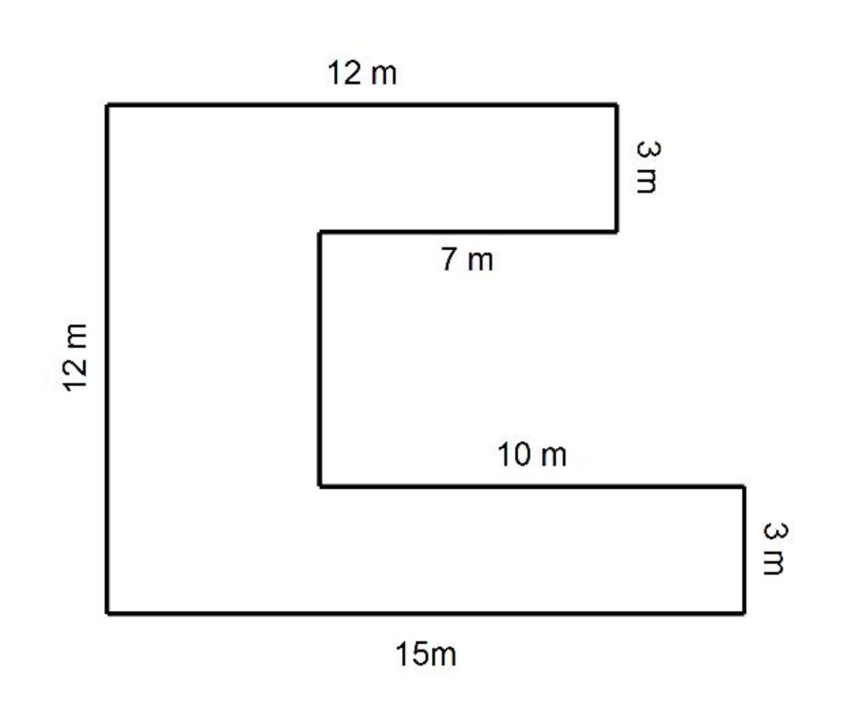 Compound C Shapes How To Calculate The Perimeter And Area