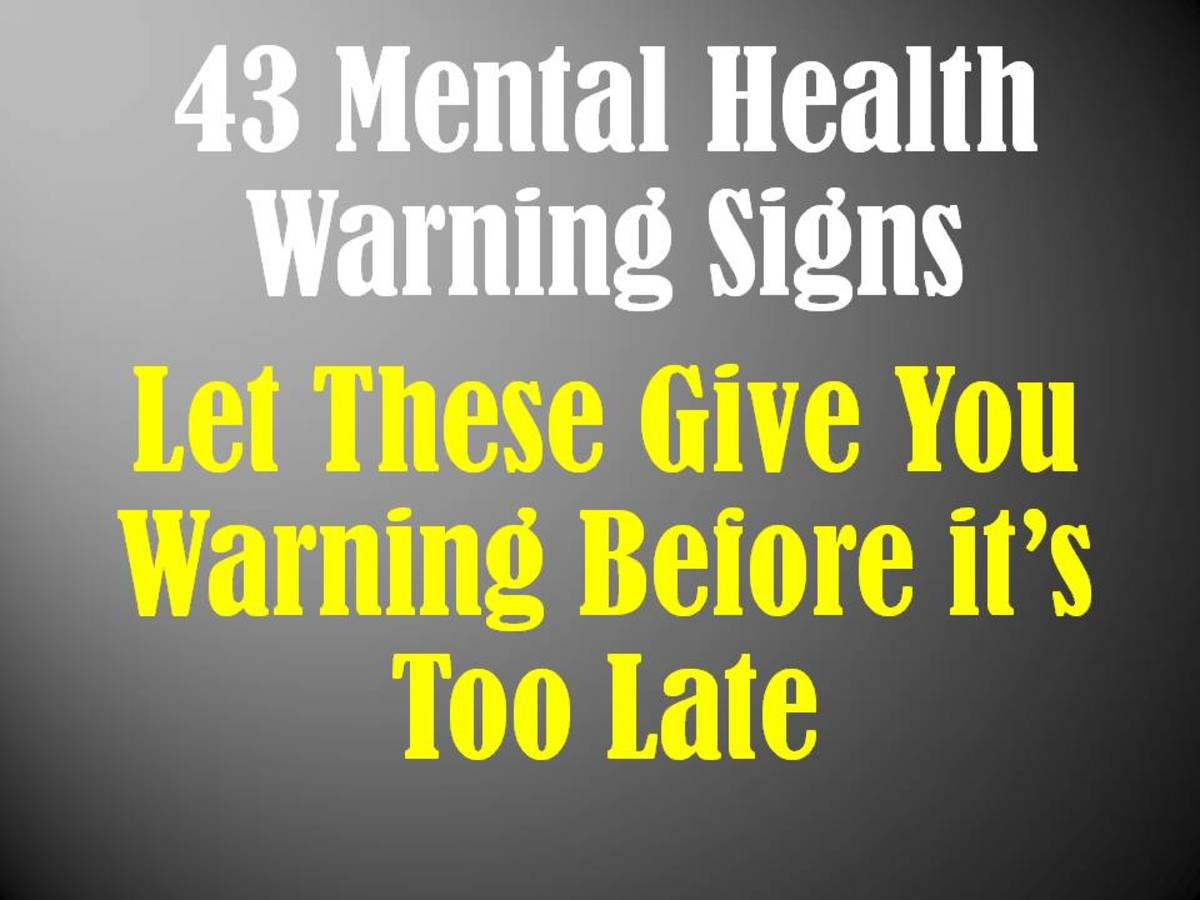 Mental Health Warning Signs A List Of 43 To Recognize