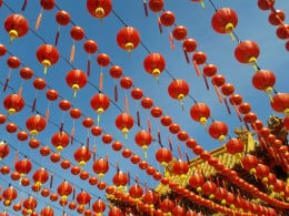 I took this picture of Red Chinese Lanterns during Chinese New Year and use them for writing my Chinese holiday write-ups