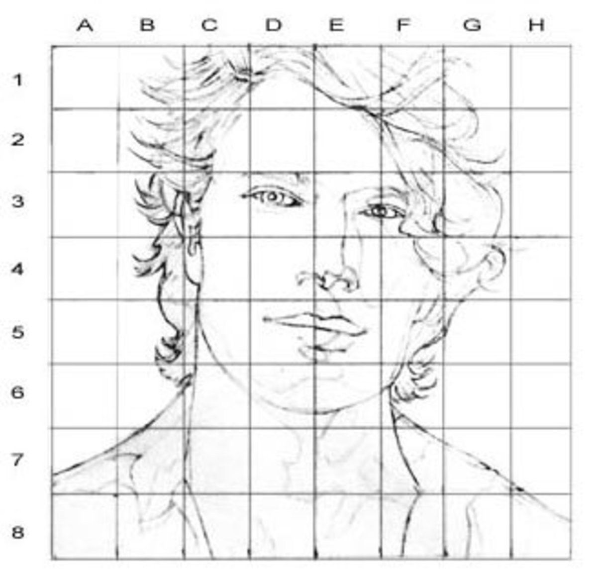Portrait Drawing For The Ultimate Beginner The Grid Method