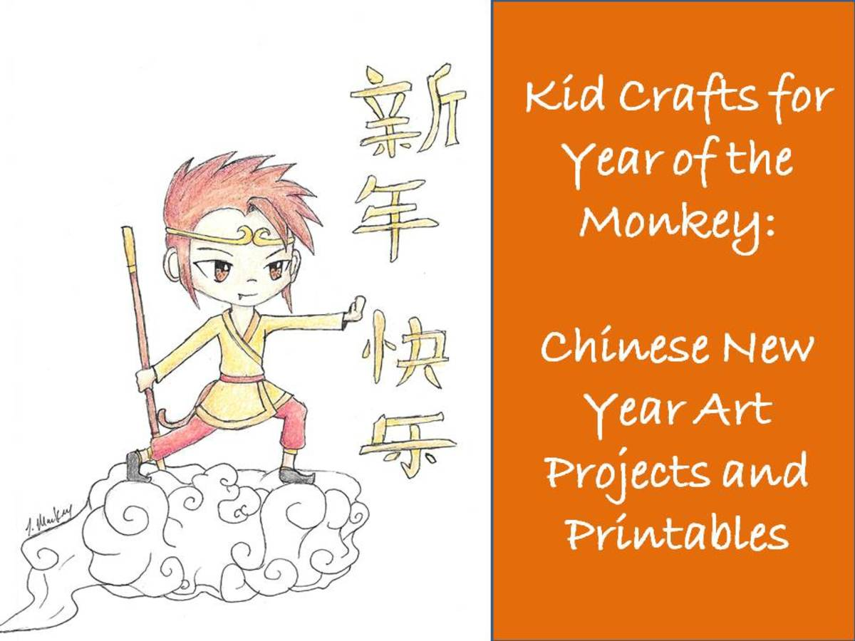 Kid Crafts For Year Of The Monkey Chinese New Year Art Projects And Printables