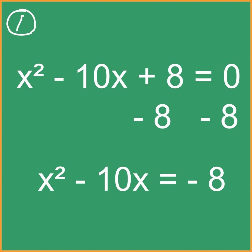 Algebra Completing The Square To Solve Quadratic
