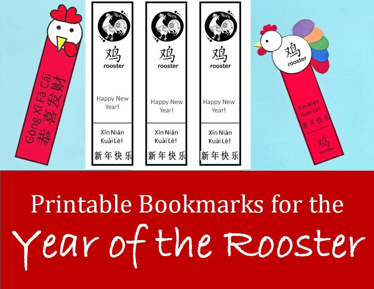 Printable Rooster Bookmarks For Chinese New Year Kid Crafts For The Year Of The Rooster