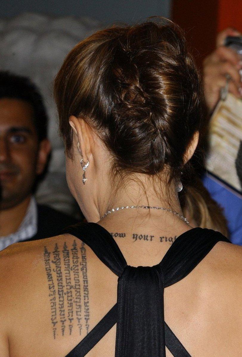 Angelina Jolies Tattoos Tatring