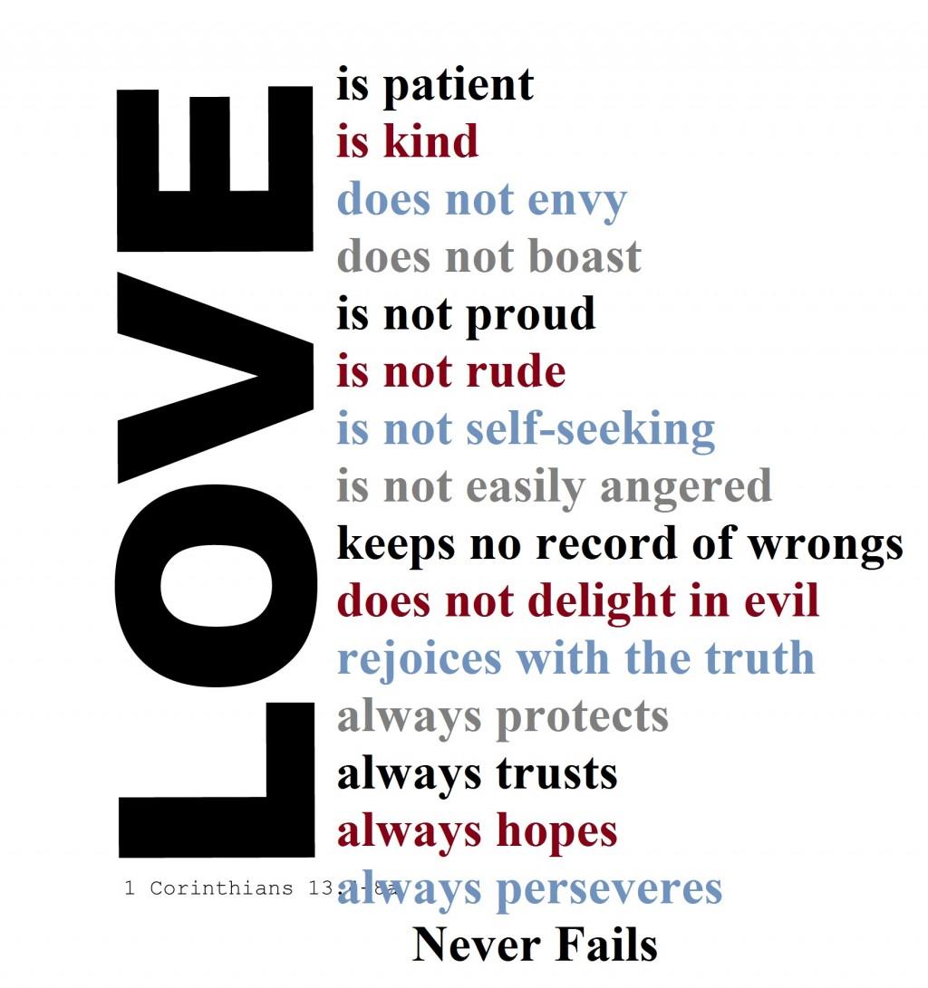 Love Is Patient Love Is Kind Bible Verseysis