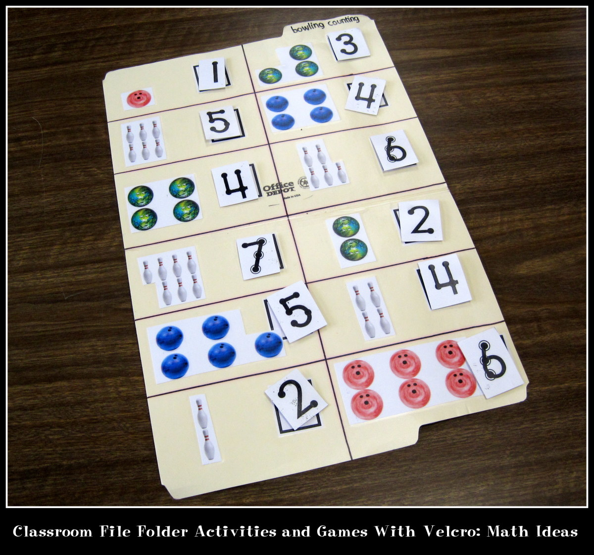 Classroom File Folder Activities And Games With Velcro Math Ideas