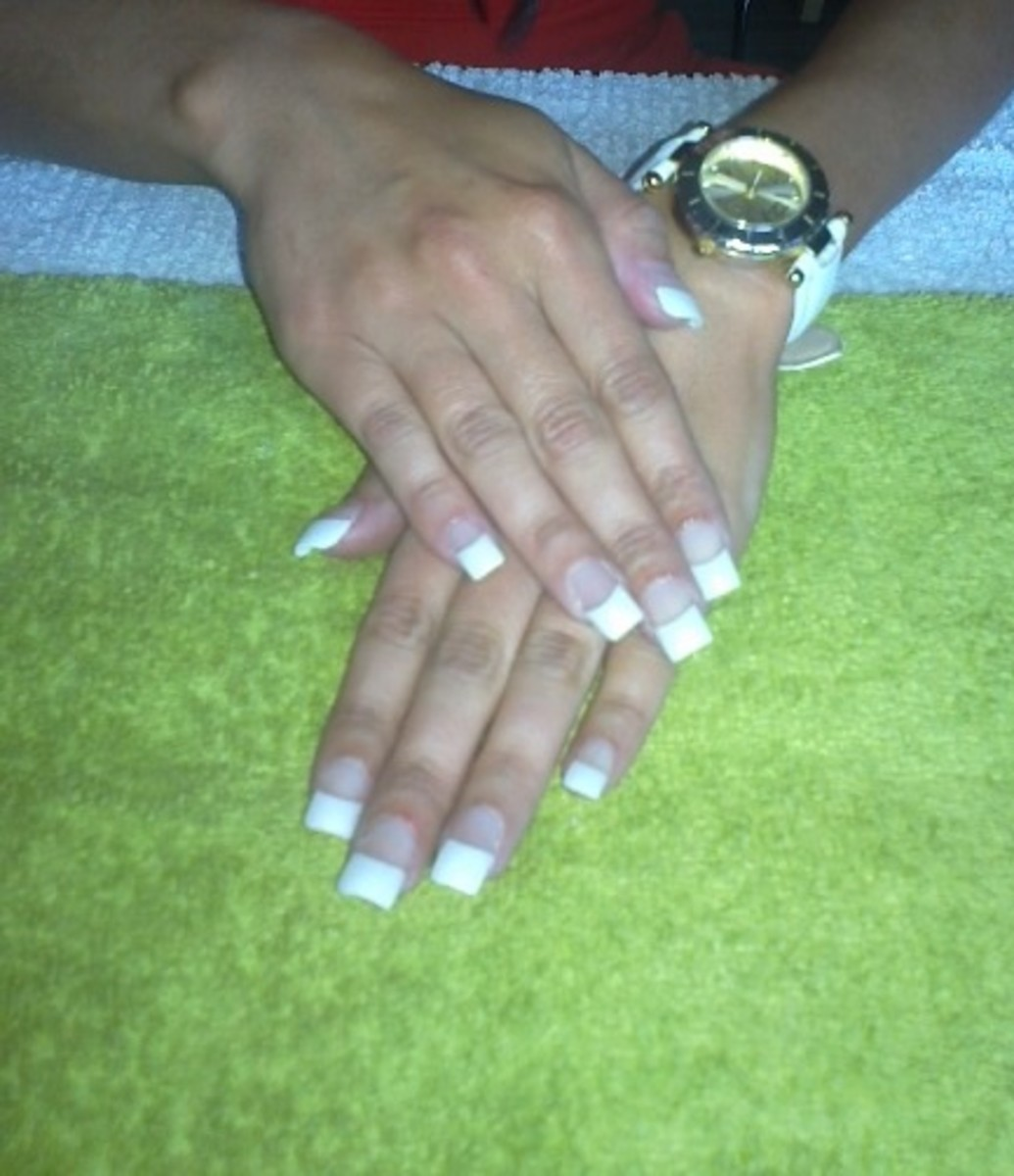 Learn How To Apply A Full Set Of Acrylic Nails With French Tips All Nail Enhancements Must Be Done Correctly So As Not Damage Your Natural