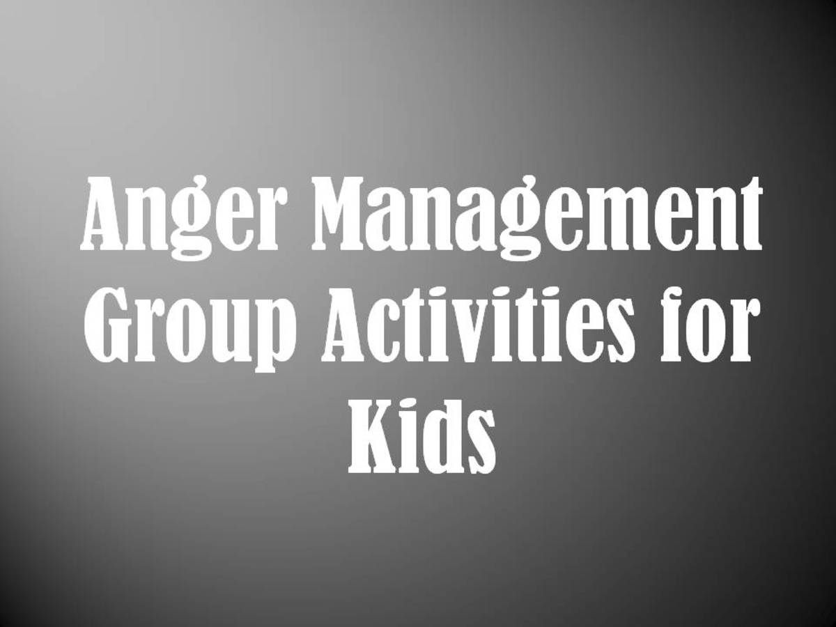 Anger Management Group Activities For Kids Mental Health