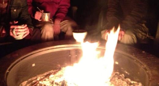 enjoying the fire pit, photo by Ilona1