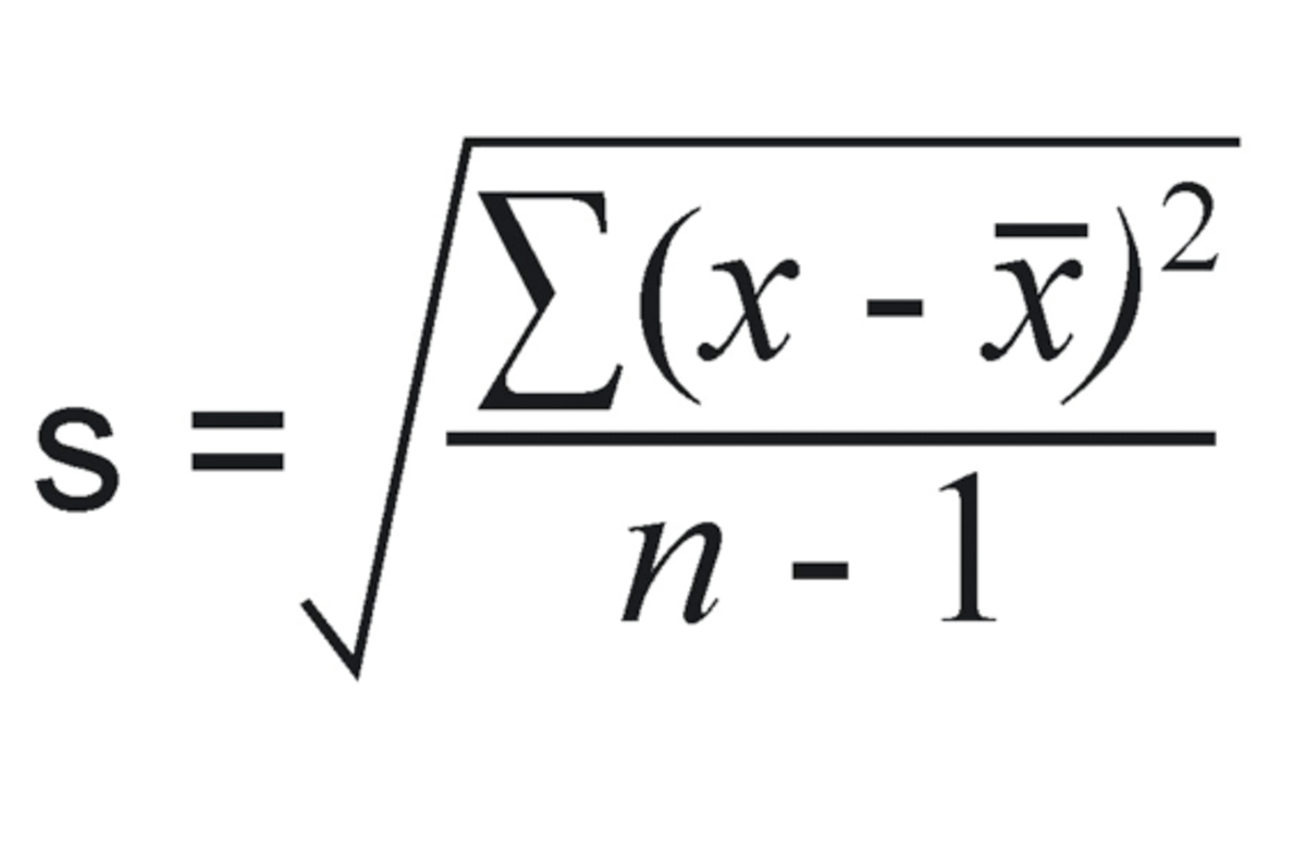 How To Use Standard Deviation Formula For Equations