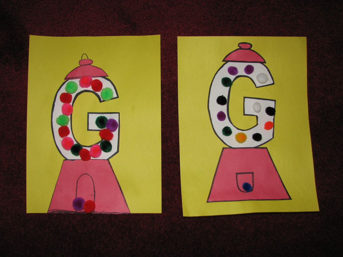 G Is For Gumball Letter G Activities For Kids
