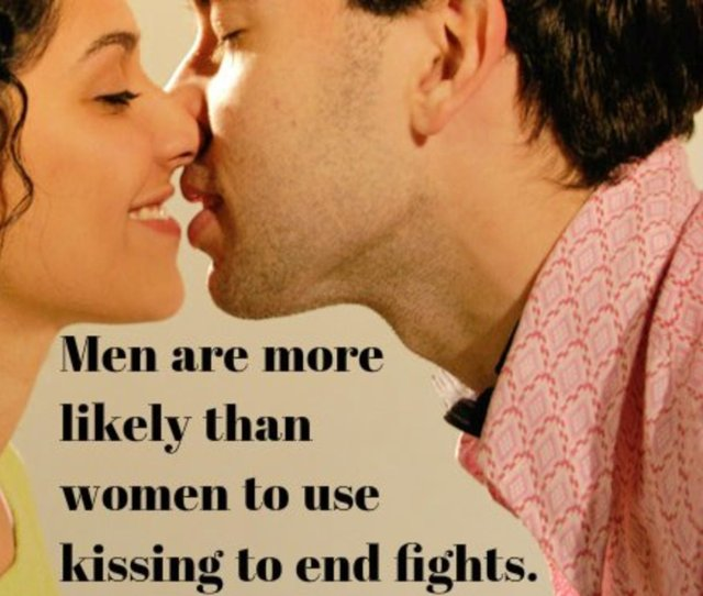 Men Are More Likely Than Women To Use Kissing To End Fights