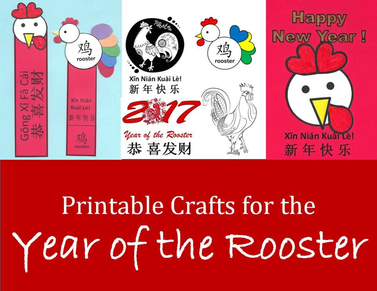 Kid Crafts For Year Of The Rooster Chinese New Year Art Projects And Printables