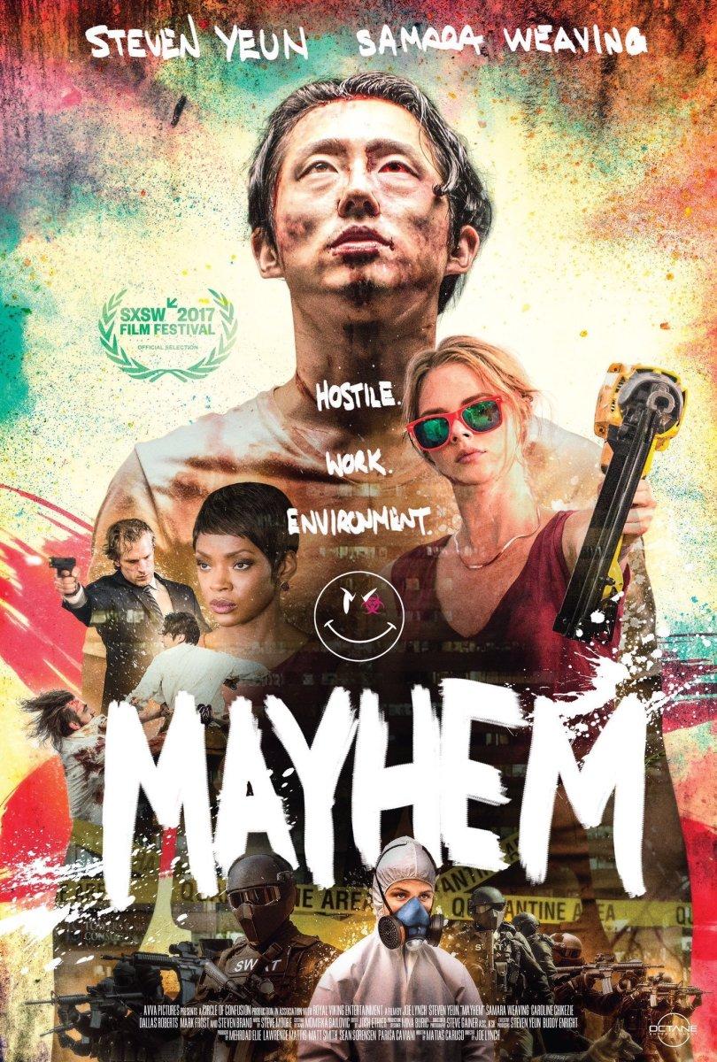 Mayhem' Movie Review Starring Steven Yuen + Samara Weaving   ReelRundown