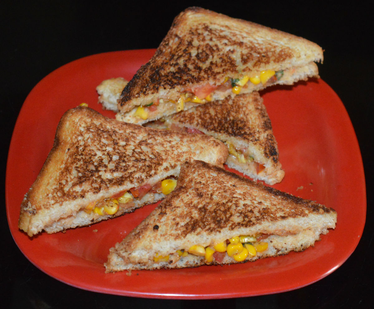 How To Make Sweet Corn Sandwich In 15 Minutes