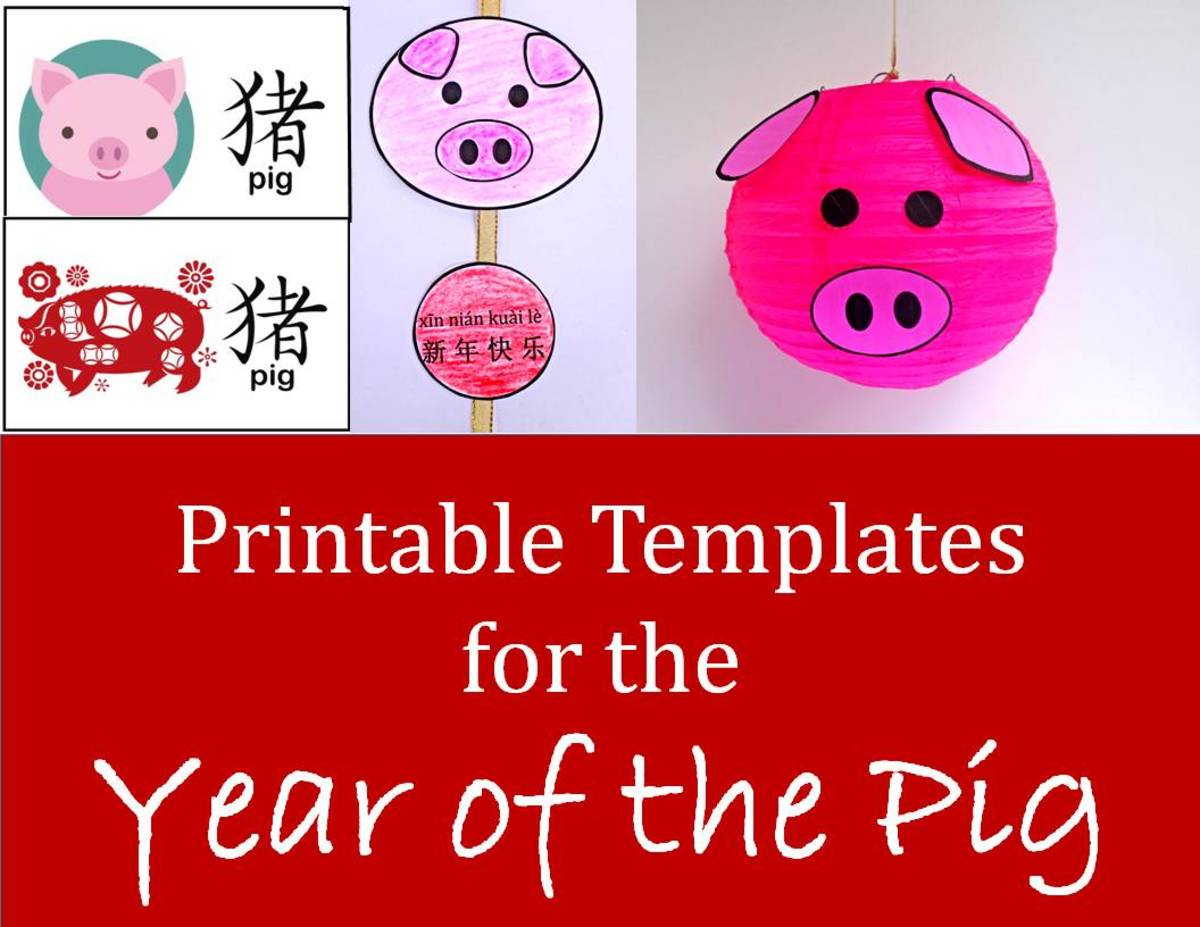 Easy Printable Projects For The Year Of The Pig Kid Crafts For Chinese New Year