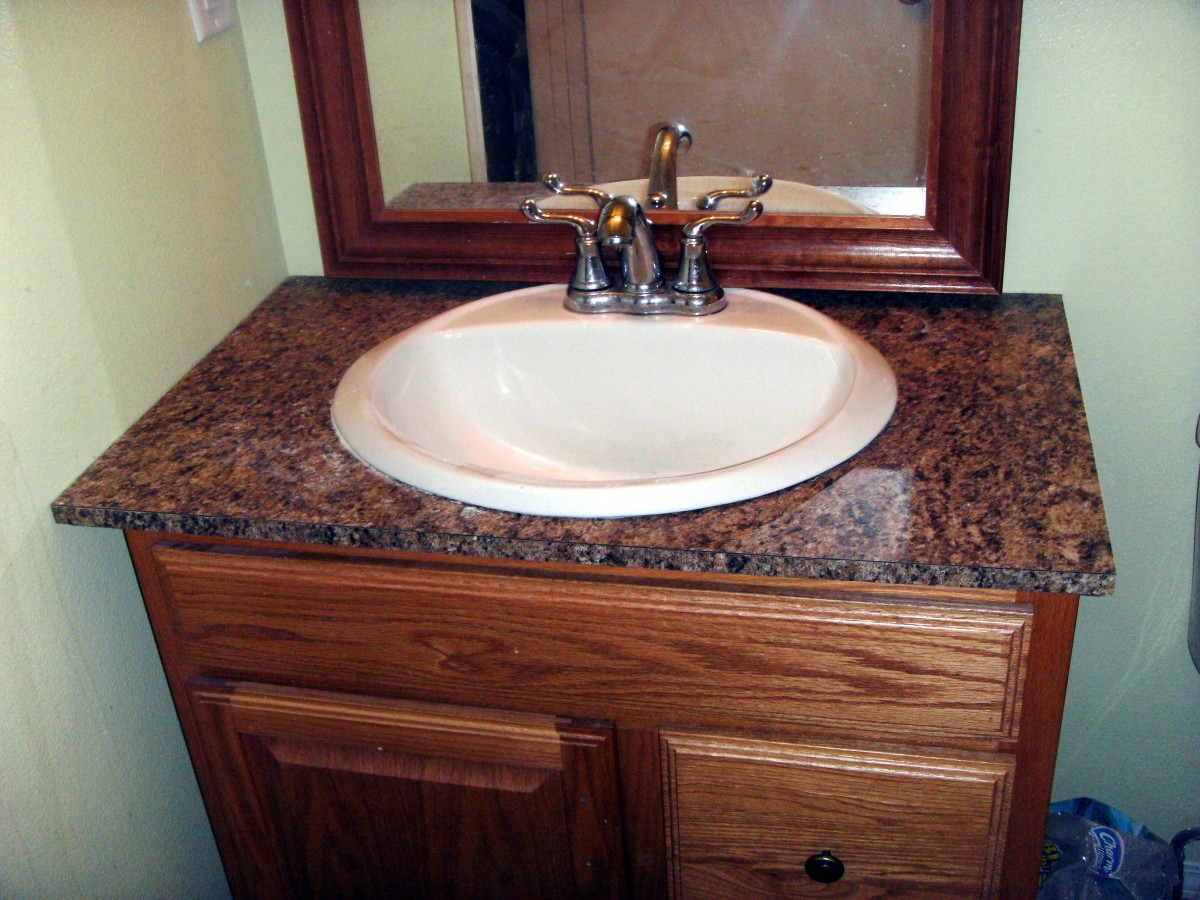 how to install laminate formica for a bathroom vanity countertop: bathroom vanities tops choices choosing countertops
