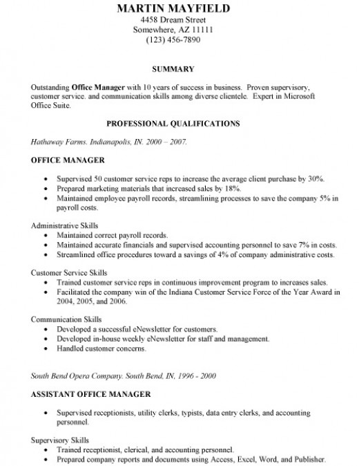 what is a combination resume