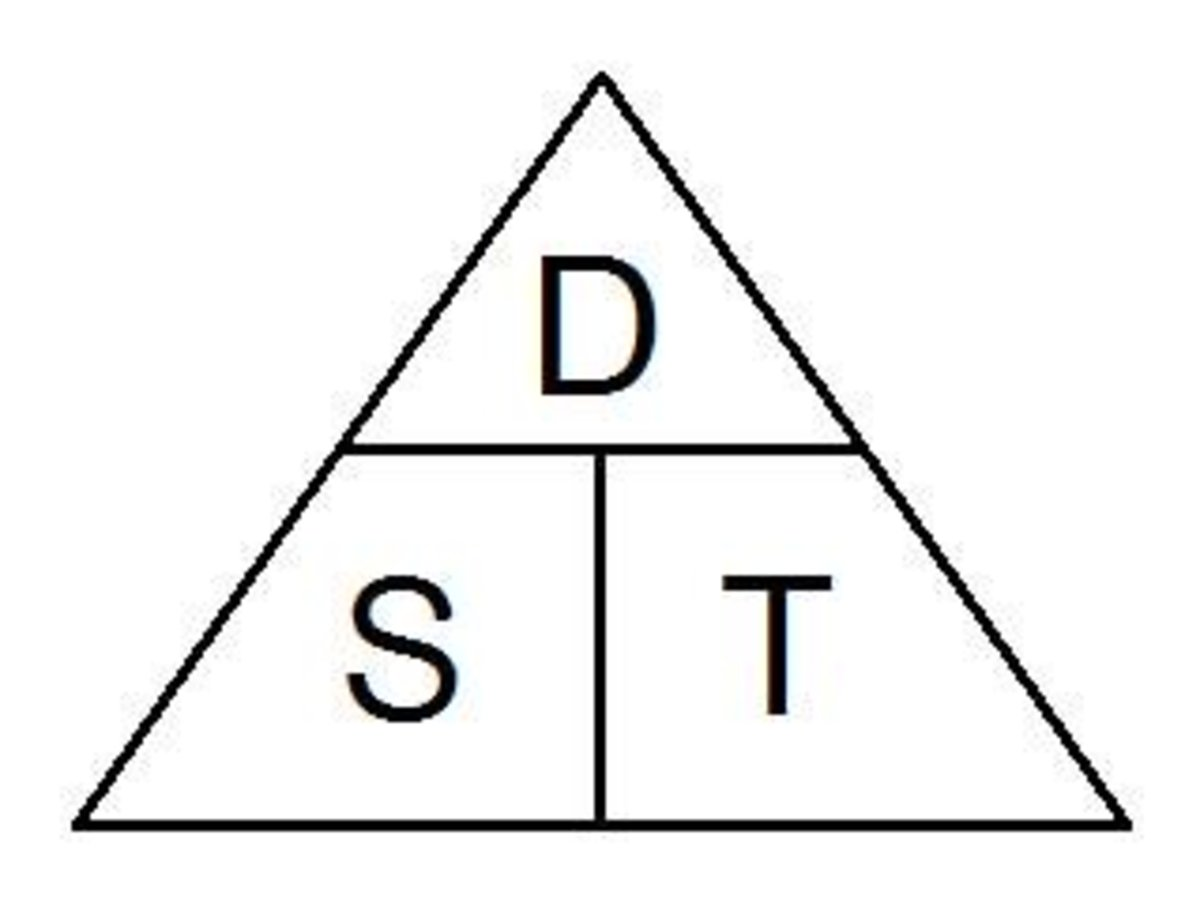 Using The Magic Triangle For Speed Distance And Time