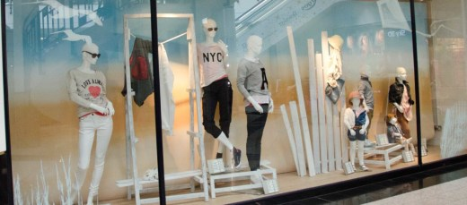 Modern Style Garment Boutique Window Decoration Name Advertising Sign Sticker Wall China